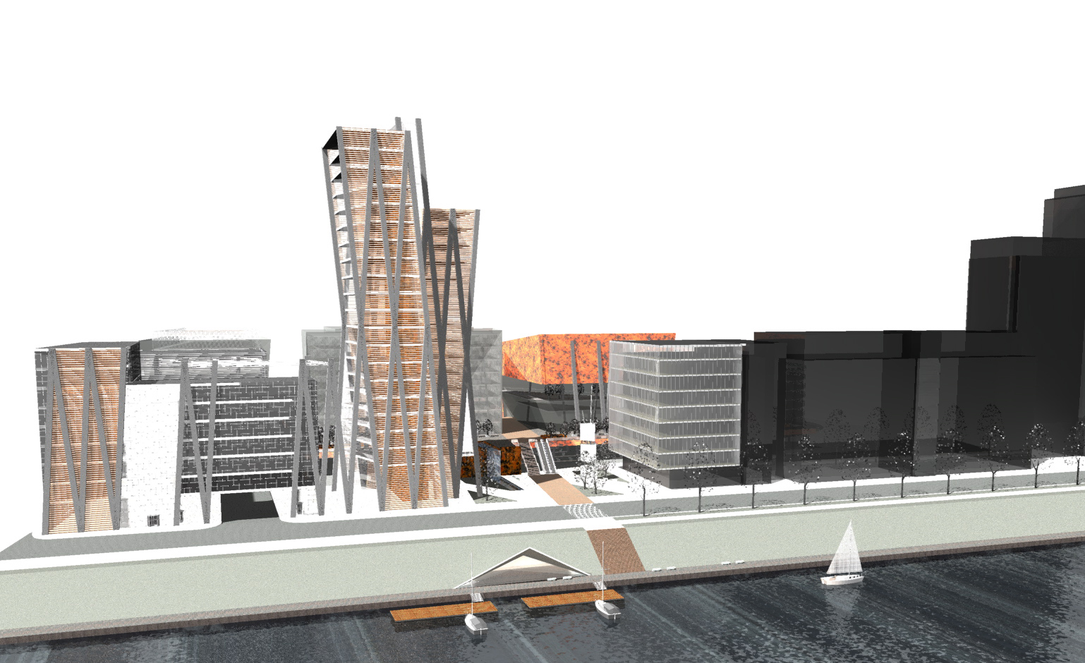 Business triangle commercial projects archdu architect bureau